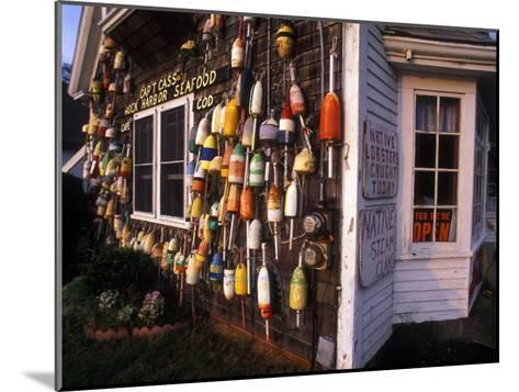 Colorful Lobster Pot Floats Adorning the Wall of a Seafood Shack-Darlyne A^ Murawski-Mounted Photographic Print