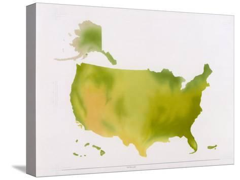 A Map of the National Park System in the United States--Stretched Canvas Print