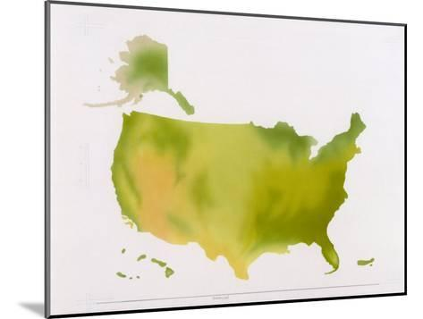 A Map of the National Park System in the United States--Mounted Photographic Print