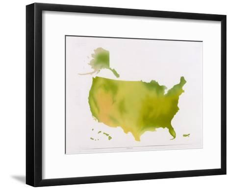 A Map of the National Park System in the United States--Framed Art Print