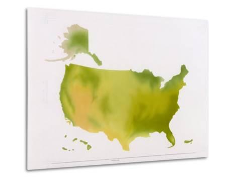 A Map of the National Park System in the United States--Metal Print