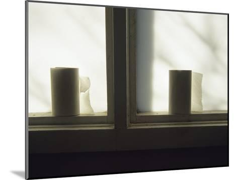 Toilet Paper Rolls Line the Sill of a Window-Raymond Gehman-Mounted Photographic Print