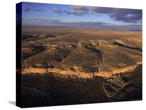 Aerial View of Chaco Canyon and Ruins of Ancient Pueblo Dwellings-Ira Block-Stretched Canvas Print