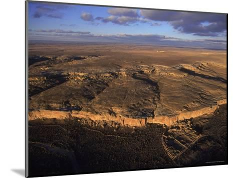 Aerial View of Chaco Canyon and Ruins of Ancient Pueblo Dwellings-Ira Block-Mounted Photographic Print