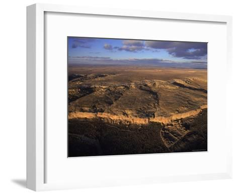 Aerial View of Chaco Canyon and Ruins of Ancient Pueblo Dwellings-Ira Block-Framed Art Print