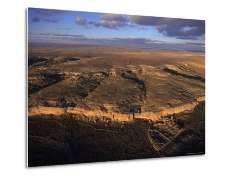 Aerial View of Chaco Canyon and Ruins of Ancient Pueblo Dwellings-Ira Block-Metal Print