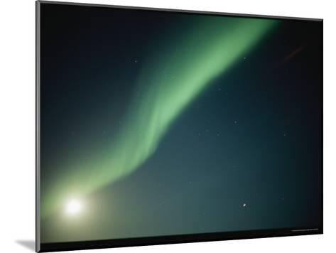 A Green Curtain of the Aurora Borealis in a Night Sky-Norbert Rosing-Mounted Photographic Print