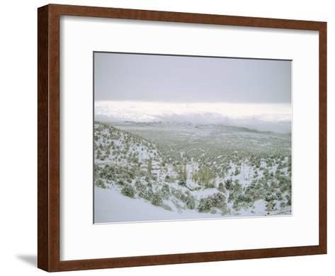 Snow Covers the Desert and Mountains near Pioche, Nevada-Sam Abell-Framed Art Print