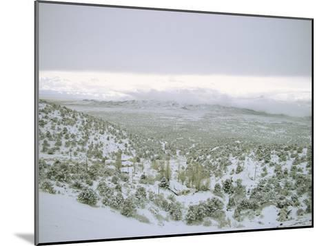 Snow Covers the Desert and Mountains near Pioche, Nevada-Sam Abell-Mounted Photographic Print