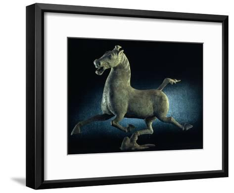 The Han Dynasty Famous Flying Horse of Gansu Sculpture, China-James L^ Stanfield-Framed Art Print