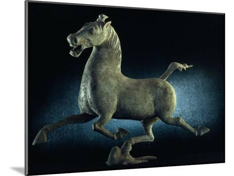 The Han Dynasty Famous Flying Horse of Gansu Sculpture, China-James L^ Stanfield-Mounted Photographic Print