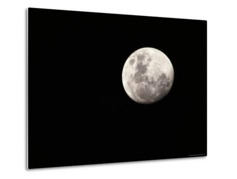 Large, Clear-Featured Moon on a Black Background, Chobe National Park, Botswana-Beverly Joubert-Metal Print