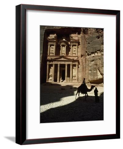 Pharaoh's Treasury, Petra, Jordan-James L^ Stanfield-Framed Art Print