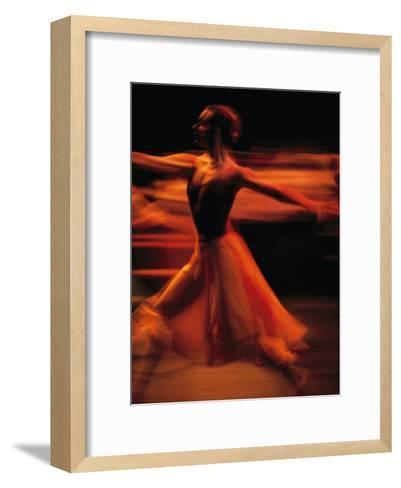 Portrait of a Ballet Dancer Bathed in Red Light, Nairobi, Kenya-Michael Nichols-Framed Art Print