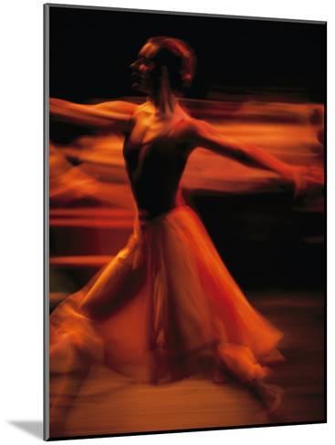 Portrait of a Ballet Dancer Bathed in Red Light, Nairobi, Kenya-Michael Nichols-Mounted Photographic Print