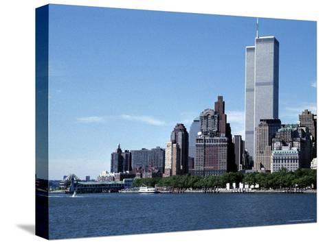 The New York City Skyline Before September 11, 2001, Manhattan, New York City, NY, United States-Stacy Gold-Stretched Canvas Print