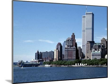 The New York City Skyline Before September 11, 2001, Manhattan, New York City, NY, United States-Stacy Gold-Mounted Photographic Print