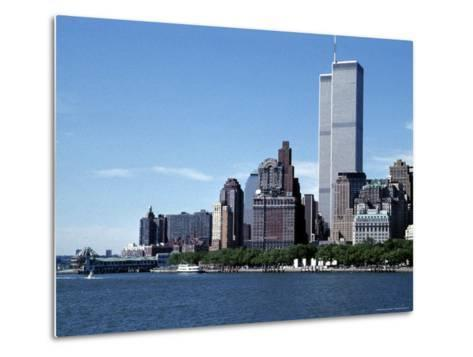 The New York City Skyline Before September 11, 2001, Manhattan, New York City, NY, United States-Stacy Gold-Metal Print
