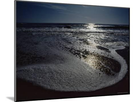 The Atlantic Ocean with Moonlight Reflected on the Foamy Surf, Assateague Island, Virginia-James P^ Blair-Mounted Photographic Print
