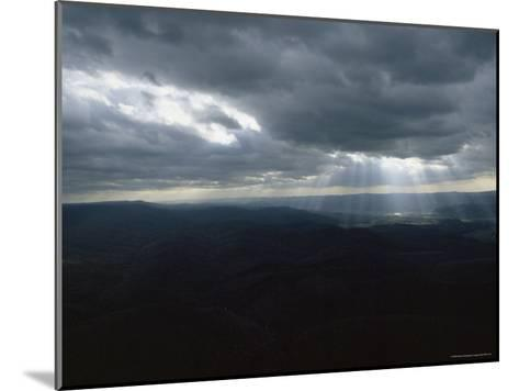 Sunlight through the Clouds Illuminates a Valley, Spruce Knob, West Virginia-James P^ Blair-Mounted Photographic Print