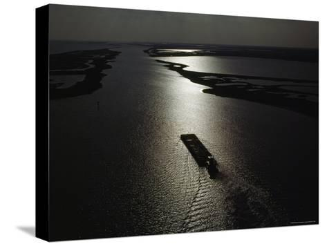 The Gulf Intracoastal Waterway at Sunset, Aransas National Wildlife Refuge, Texas-James P^ Blair-Stretched Canvas Print