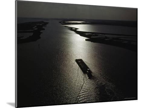 The Gulf Intracoastal Waterway at Sunset, Aransas National Wildlife Refuge, Texas-James P^ Blair-Mounted Photographic Print