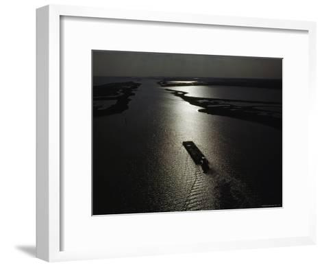 The Gulf Intracoastal Waterway at Sunset, Aransas National Wildlife Refuge, Texas-James P^ Blair-Framed Art Print