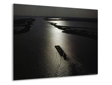 The Gulf Intracoastal Waterway at Sunset, Aransas National Wildlife Refuge, Texas-James P^ Blair-Metal Print