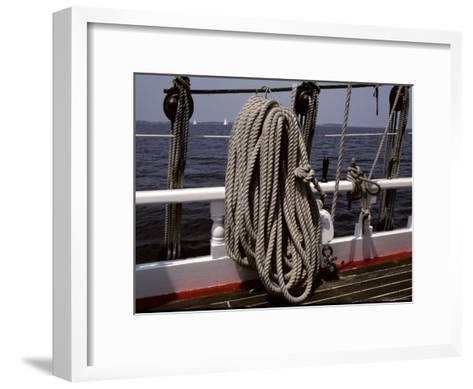 Ropes and Rigging on a Windjammer Sailing Ship-Stephen St^ John-Framed Art Print