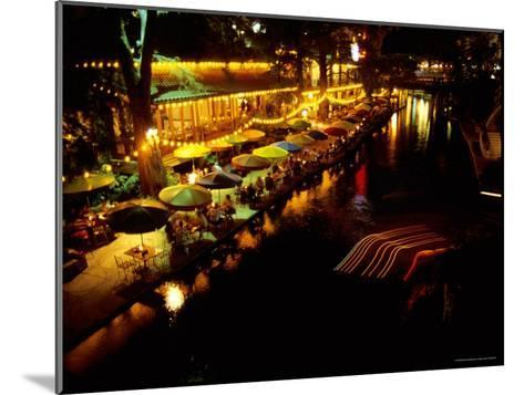 The Popular Riverwalk Lights up with Color on a Summer Evening-Stephen St^ John-Mounted Photographic Print