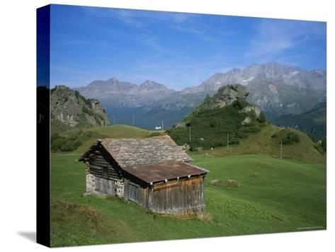 A Rustic Mountain Hut High in the Swiss Alps Near St. Moritz-Taylor S^ Kennedy-Stretched Canvas Print