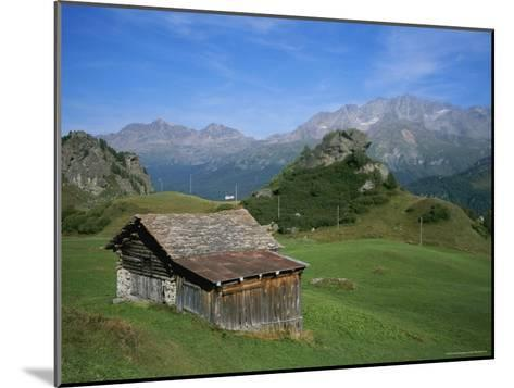A Rustic Mountain Hut High in the Swiss Alps Near St. Moritz-Taylor S^ Kennedy-Mounted Photographic Print