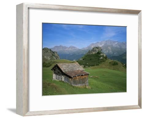 A Rustic Mountain Hut High in the Swiss Alps Near St. Moritz-Taylor S^ Kennedy-Framed Art Print