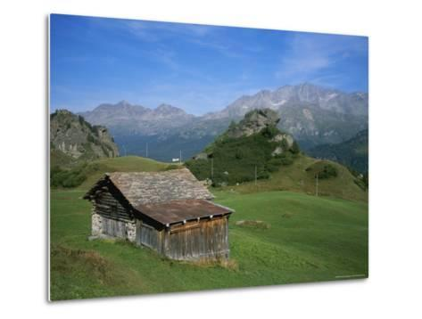 A Rustic Mountain Hut High in the Swiss Alps Near St. Moritz-Taylor S^ Kennedy-Metal Print