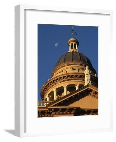 The Auburn, California Courthouse Gleams in Early Morning Sun-Phil Schermeister-Framed Art Print