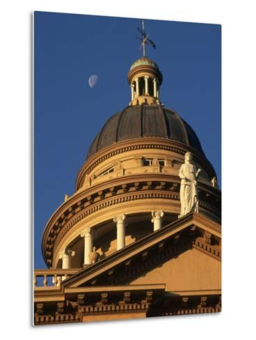 The Auburn, California Courthouse Gleams in Early Morning Sun-Phil Schermeister-Metal Print