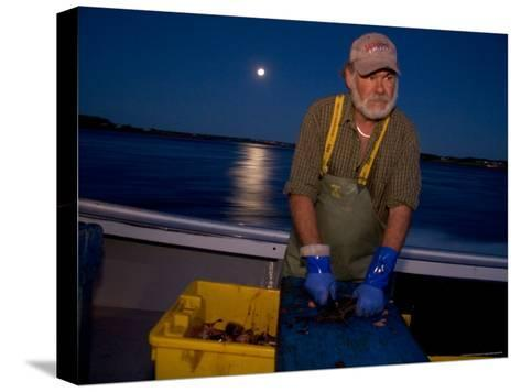 A Lobster Fisherman Goes Out for the Mornings Catch-Taylor S^ Kennedy-Stretched Canvas Print