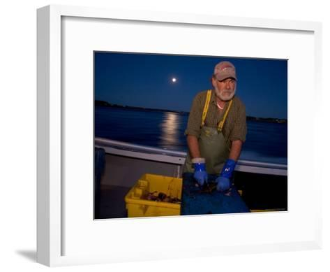 A Lobster Fisherman Goes Out for the Mornings Catch-Taylor S^ Kennedy-Framed Art Print