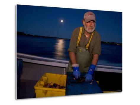 A Lobster Fisherman Goes Out for the Mornings Catch-Taylor S^ Kennedy-Metal Print