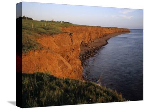 The Red Cliffs of Prince Edward Island at Sunset Glow, Prince Edward Island, Canada-Taylor S^ Kennedy-Stretched Canvas Print