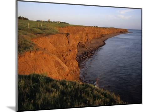 The Red Cliffs of Prince Edward Island at Sunset Glow, Prince Edward Island, Canada-Taylor S^ Kennedy-Mounted Photographic Print