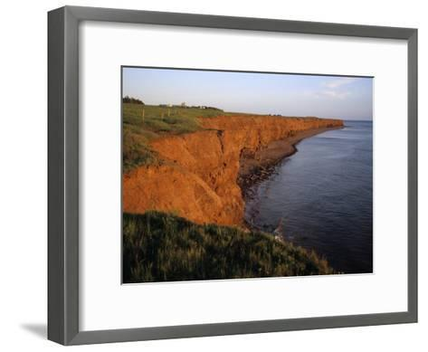 The Red Cliffs of Prince Edward Island at Sunset Glow, Prince Edward Island, Canada-Taylor S^ Kennedy-Framed Art Print