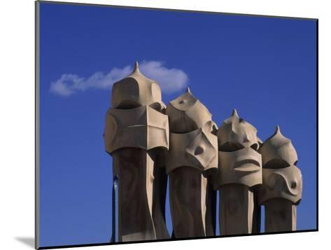 The Strangely Shaped Rooftop Chimneys of La Pedrera Designed by Gaudi, Barcelona, Spain-Taylor S^ Kennedy-Mounted Photographic Print
