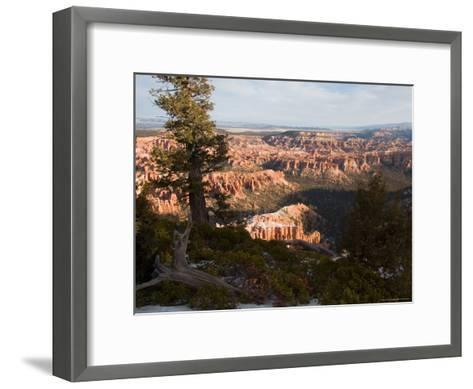 A View into the Hoodoos and Rock Formations of the Park at Sunrise, Bryce Canyon, Utah-Taylor S^ Kennedy-Framed Art Print