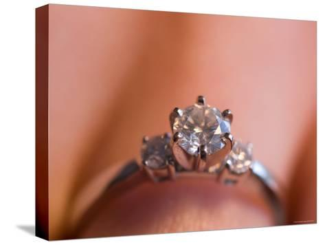 A Close-up View of a Diamond Engagement Ring-Joel Sartore-Stretched Canvas Print