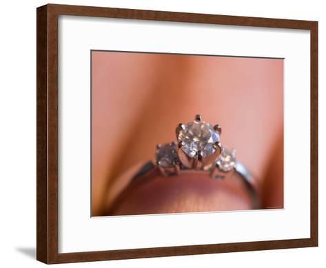A Close-up View of a Diamond Engagement Ring-Joel Sartore-Framed Art Print