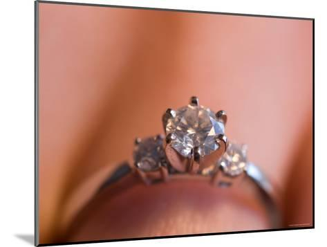 A Close-up View of a Diamond Engagement Ring-Joel Sartore-Mounted Photographic Print