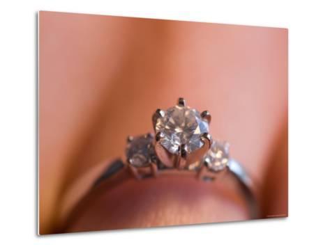 A Close-up View of a Diamond Engagement Ring-Joel Sartore-Metal Print