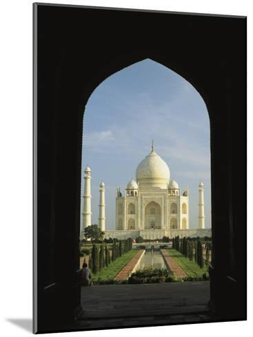A View of the Taj Mahal Framed Through a Doorway-Ed George-Mounted Photographic Print