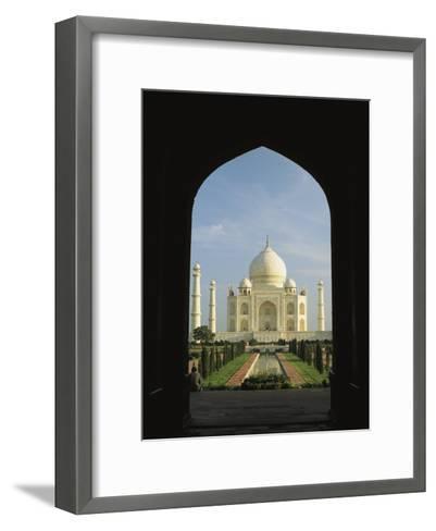 A View of the Taj Mahal Framed Through a Doorway-Ed George-Framed Art Print